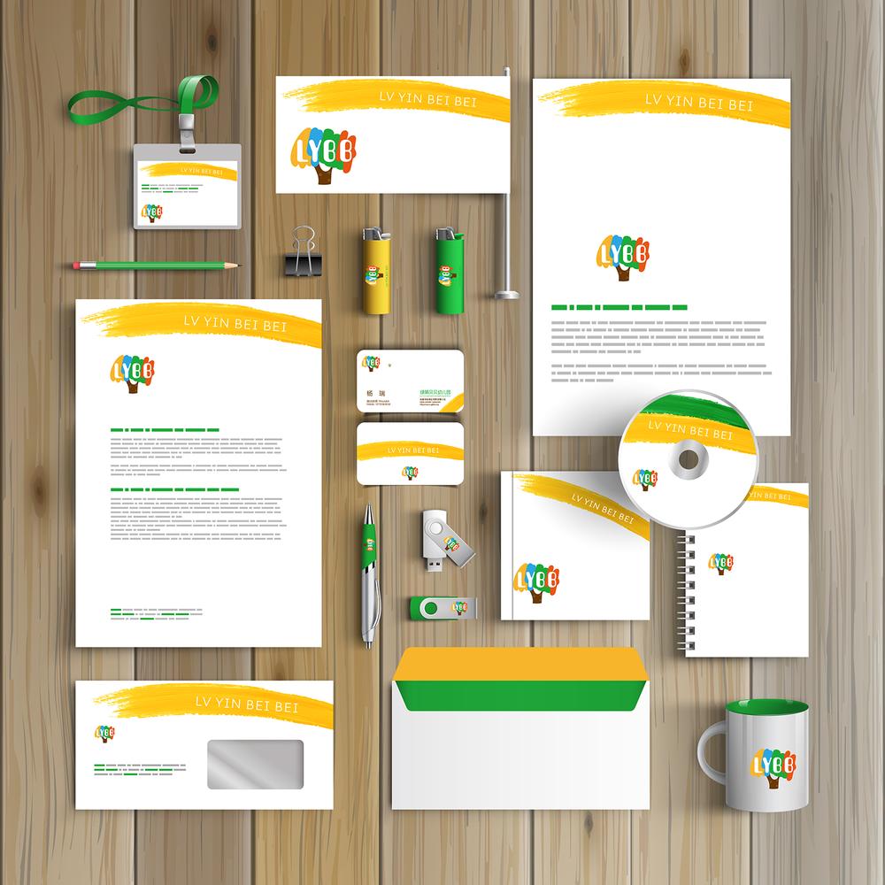 新元素品牌设计:绿萌贝贝幼儿园标识设计图片